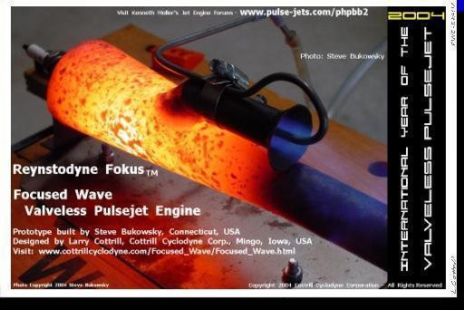 Digital mini-poster: Actually, I Am a Rocket Scientist [Steve Bukowsky's Focused Wave Engine prototype] - image Copyright 2004 Cottrill Cyclodyne Corporation